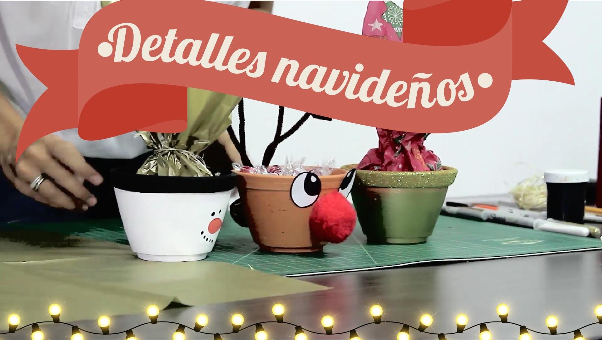 Cómo decorar macetas y botellas navideñas - DIY - Así de Fácil - Maleja