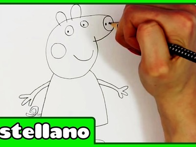 Como Dibujar Peppa Pig - How To Peppa Pig by Hooplakidz Castellano