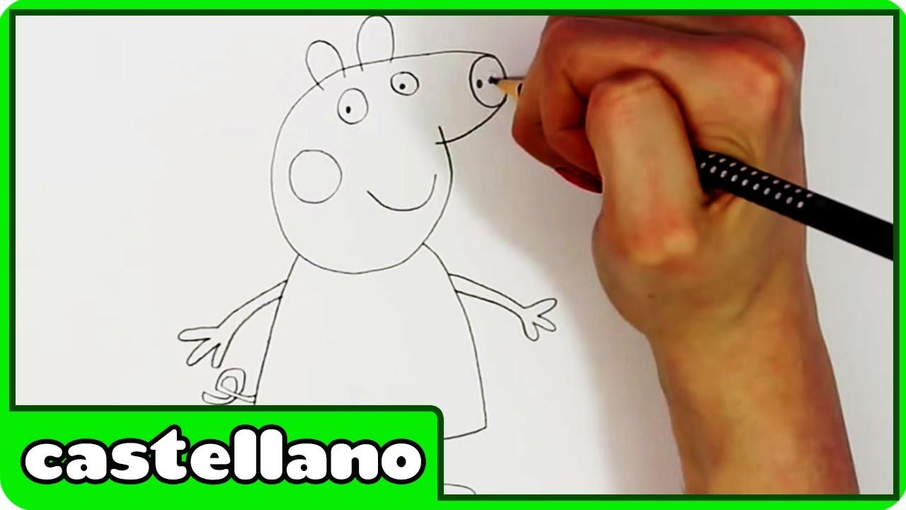 Como Dibujar Peppa Pig - How To Peppa Pig by Hooplakidz Castellano