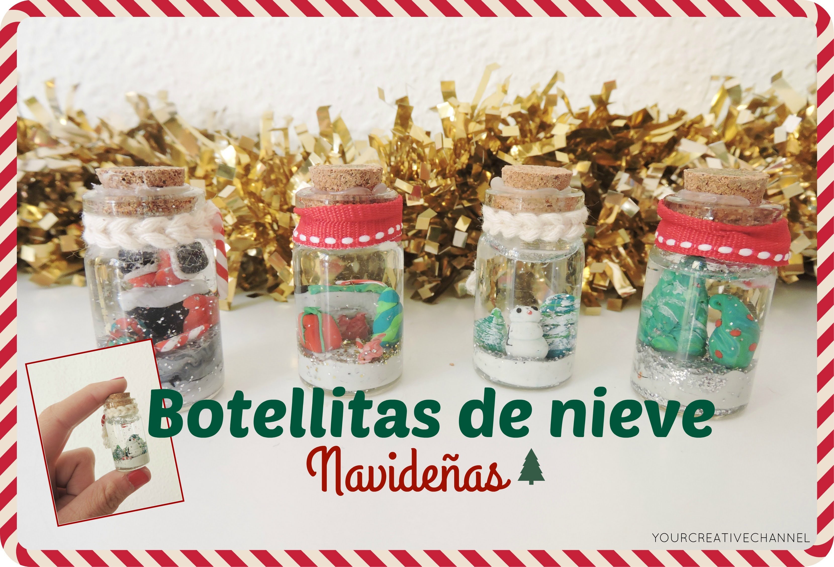 Como hacer bolas de nieve Navideñas - How to make Christmas snow balls