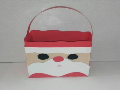 Como hacer bolsa de regalo para navidad de papa noel manualidades tutorial DIY how to box santa