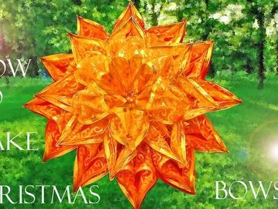 Como hacer moños navideños - how to make Christmas bows