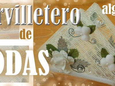 Cómo hacer servilleteros de boda Algodón TUTORIAL Inerya viris