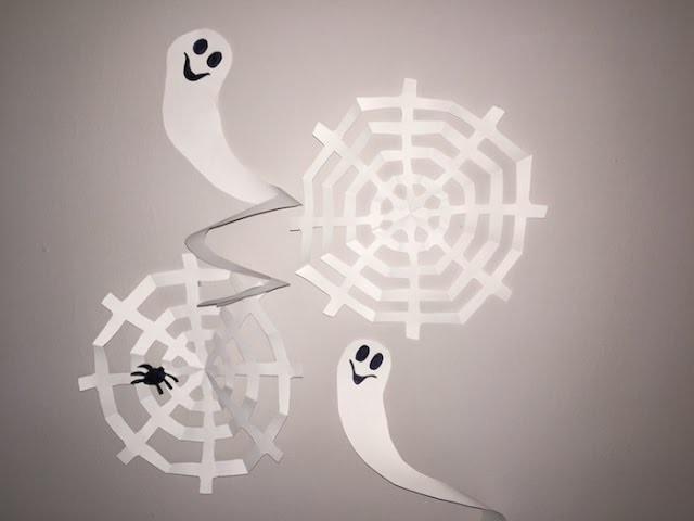 Cómo hacer telarañas y fantasmas de papel para Halloween