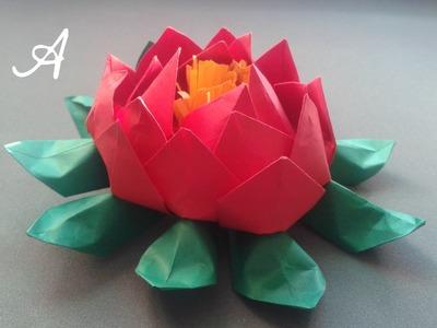 Como hacer una Flor de Loto - Origami