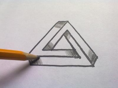 Como Se Dibuja Triángulo Imposible - Ilusión Óptica