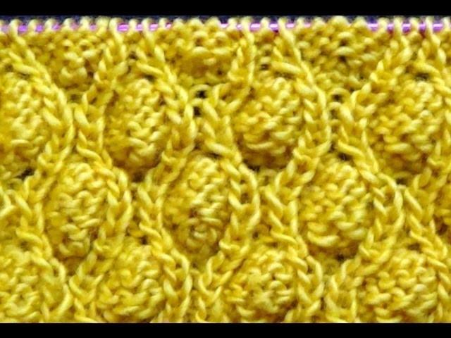 Cómo Tejer Punto Piñas-Knit the Cocoon Stitch(305)