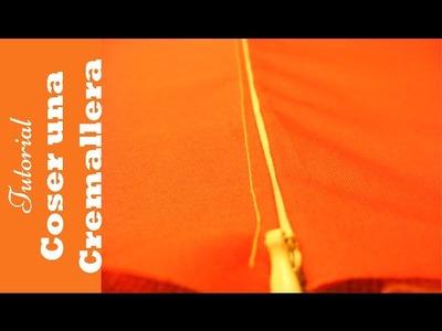 Coser cremalleras: Como coserla a máquina paso a paso. DIY COSTURA