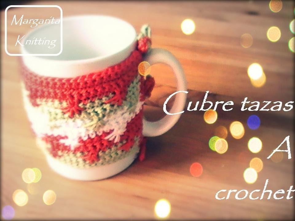 Cubre tazas a crochet (diestro)