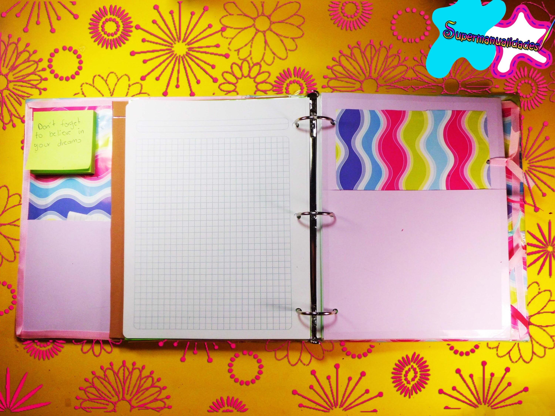 Decora y personaliza tu recopilador o cuaderno