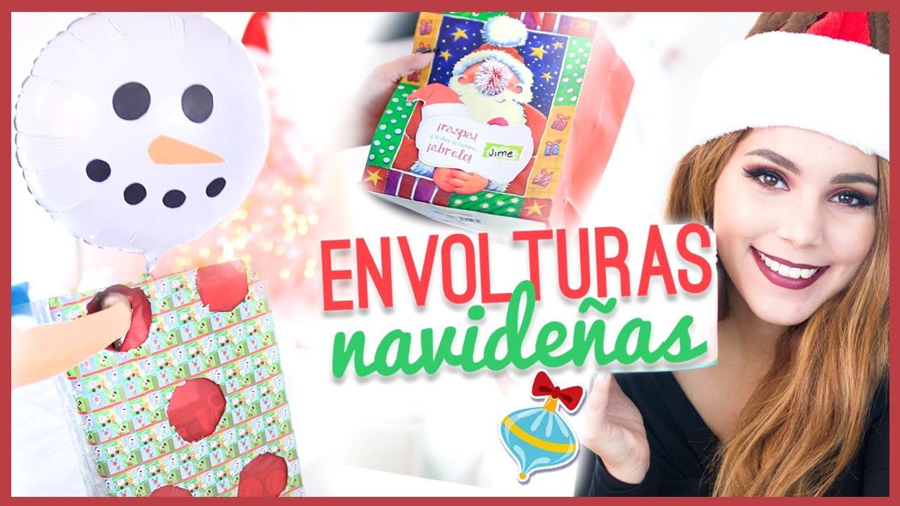 DIY IDEAS de ENVOLTURAS de REGALO NAVIDEÑAS originales y creativas + Sorteo ♥ Jimena Aguilar