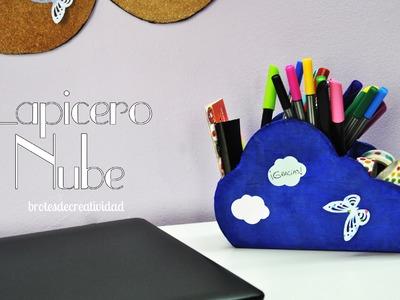 DIY : Porta Lápices con forma de nube hecho de cartón *Reciclaje*