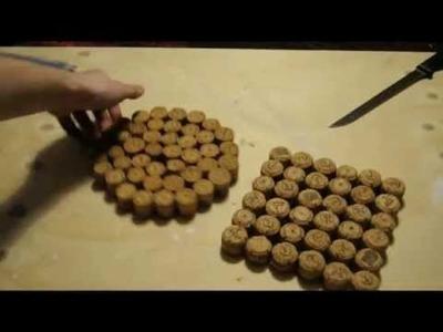 DIY. Tapetes de cocina reciclando corchos de cava.