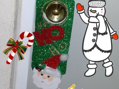 DIYComo hacer Colgante para puerta navideño de santa Claus Christmas