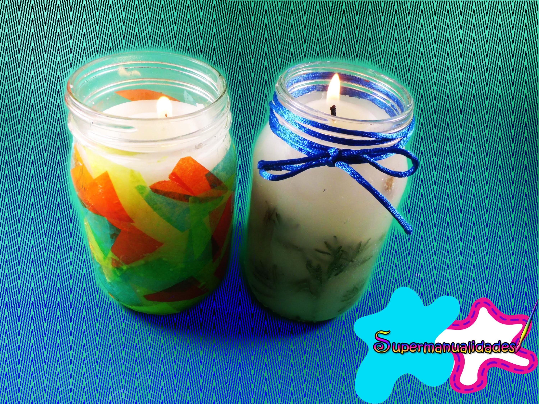 Frasco velas aromáticas (2 ideas fáciles) ▶SUPERMANUALIDADES◀