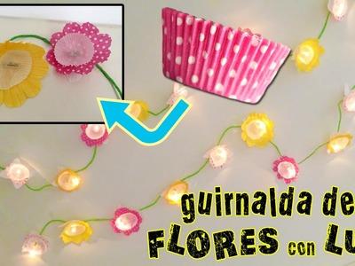 GUIRNALDA de luces y cupcakes * MANUALIDADES fáciles para decorar