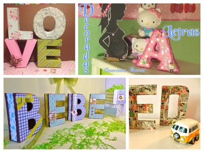 Letras 3D Decorativas.DIY crafts: 3D LETTERS (Room decor)