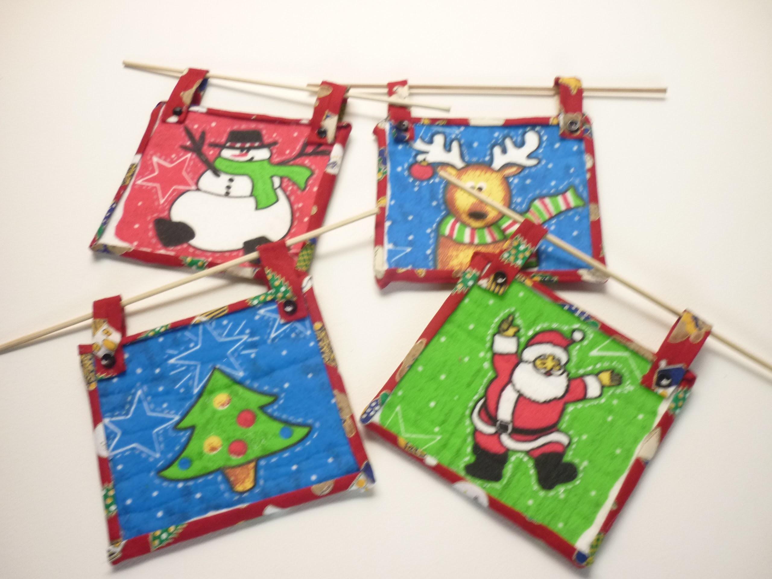 Manualidades para Navidad:  CUADROS en PATCHWORK  - PICTURES patchwork with limpión ( Imitation )