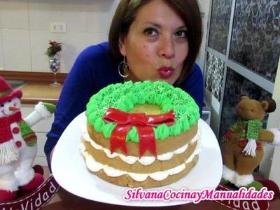 NAVIDAD: TORTA CORONA NAVIDEÑA - Silvana Cocina y Manualidades