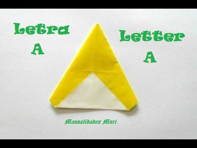 Origami - Papiroflexia. Abecedario muy fácil. Letra A