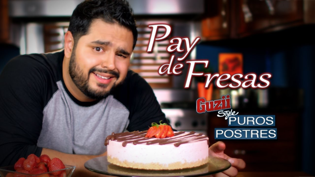 Pay de Fresas con Chocolate (Sin Hornear) - Guzii Style
