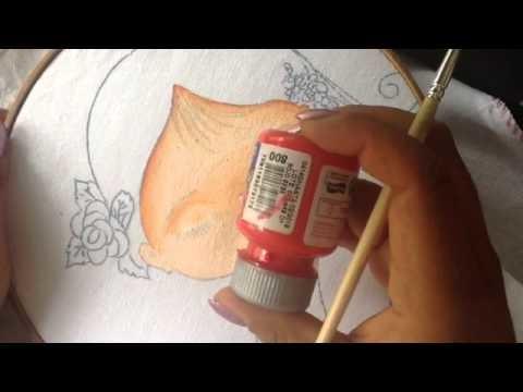 Pintura en tela niña rosa # 1 con cony