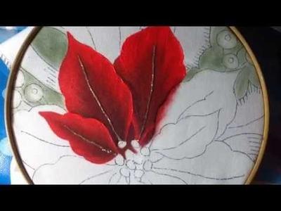 Pintura en tela Nochebuenas # 1 con cony