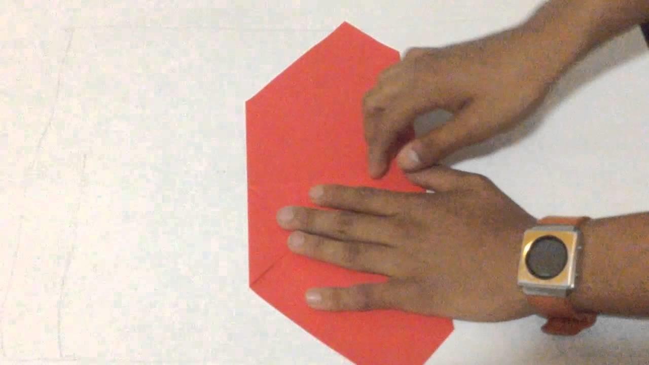 TUTORIAL- Corazon de Origami.Origami Heart