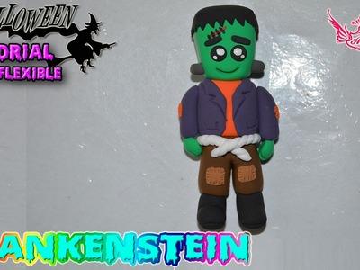 ♥ Tutorial Halloween: Frankenstein de Masa Flexible ♥