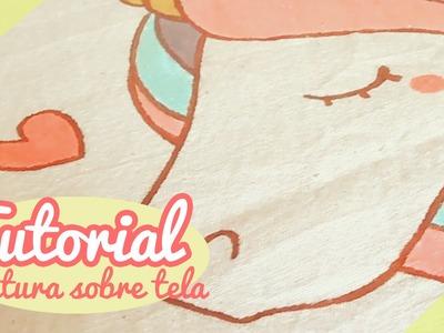 ♡ Tutorial Unicornio ♡. Pintura sobre tela By Piyoasdf