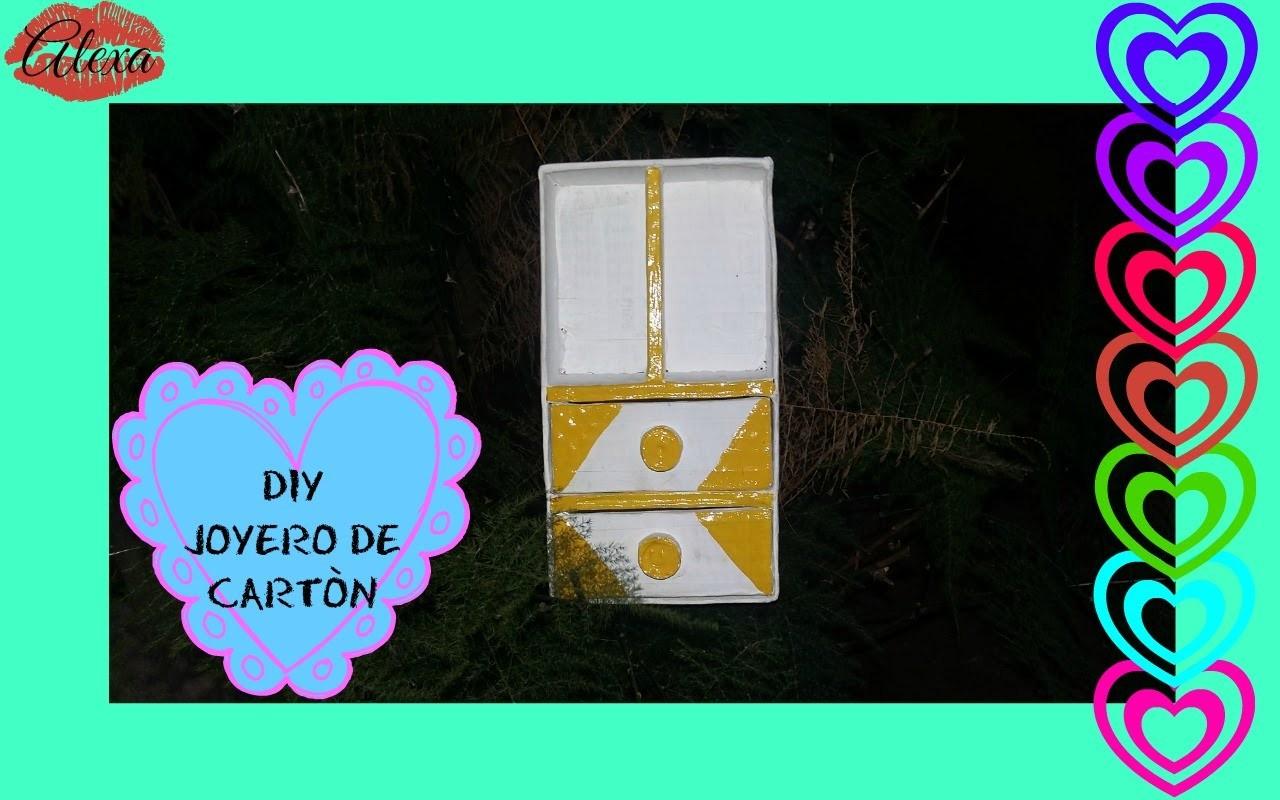 DIY JOYERO DE CARTON