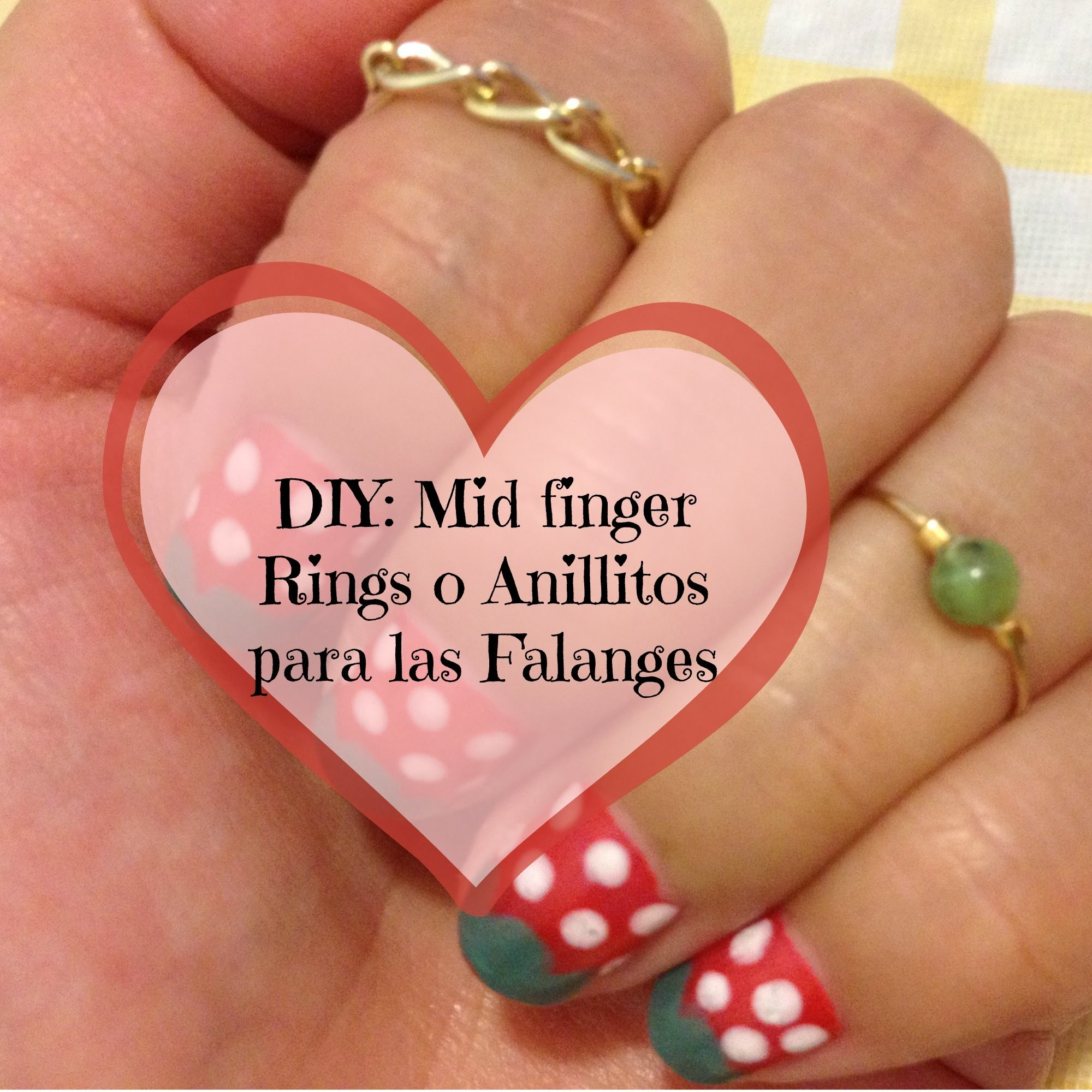 DIY mid finger Rings o anillitos de falange, hazlo tu misma I Lorentix