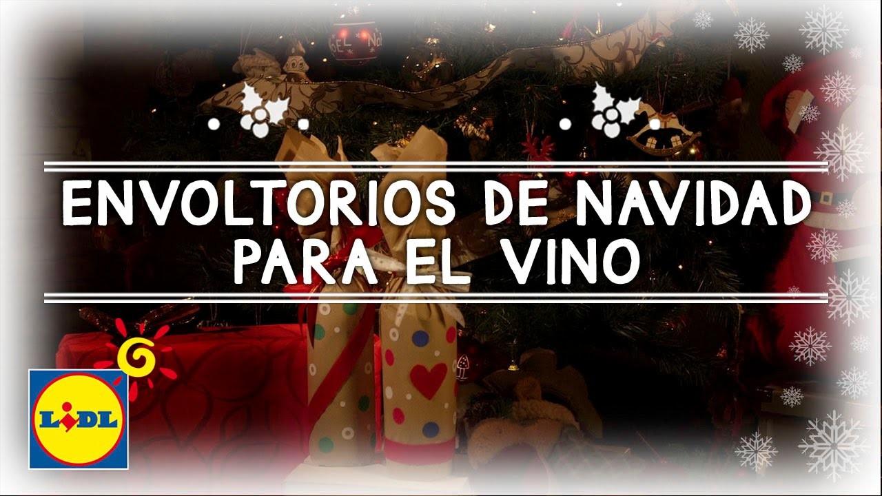 Envoltorios De Navidad Para El Vino - Navidad Handmade