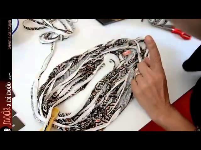 DIY: Collar y pulsera con trapillo y cuentas