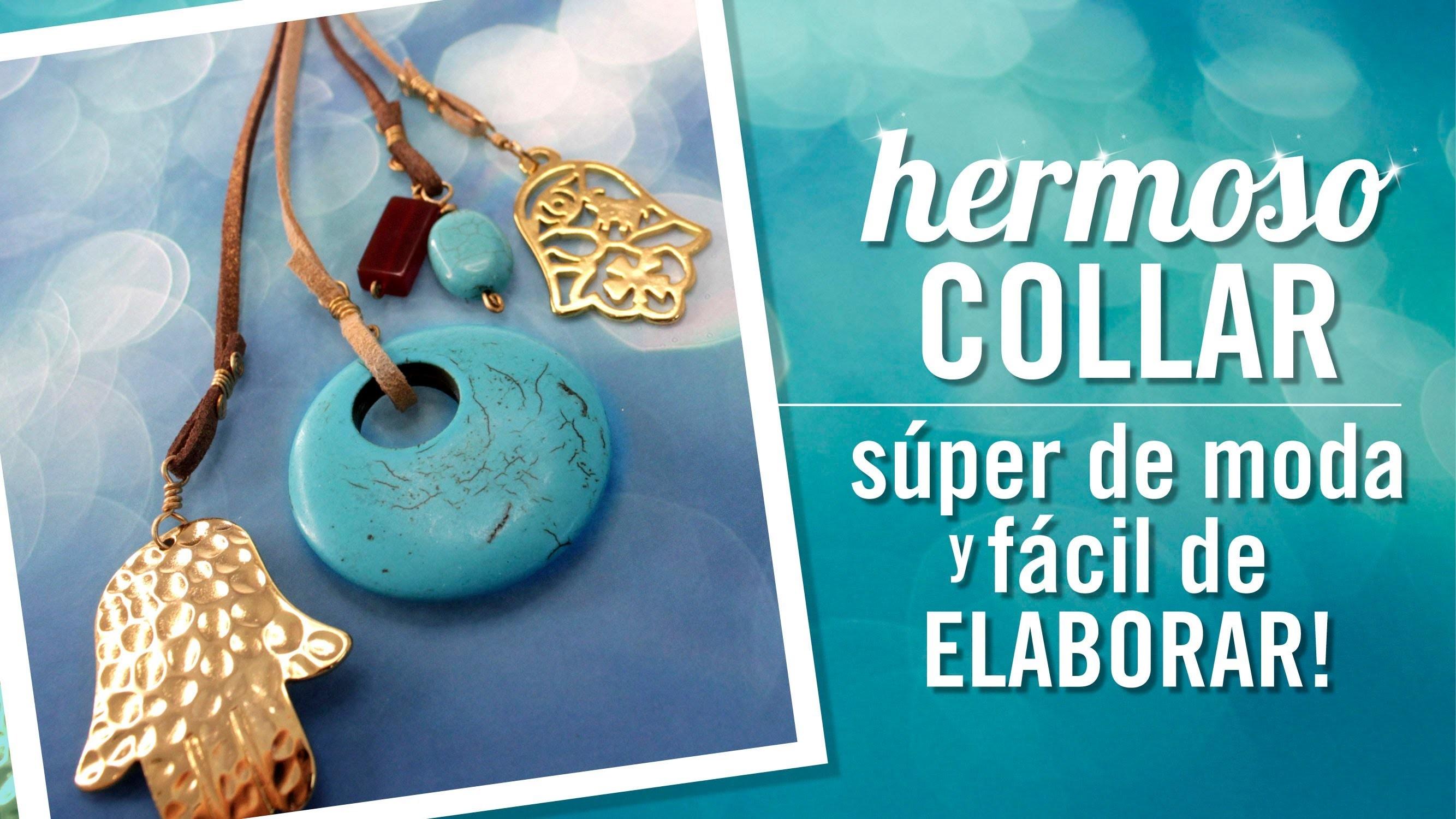 DIY Como hacer un collar con herrajes dorados por Carolina Villacis Programa 001