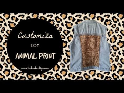 DIY: Cómo renovar un chaleco tejano con Animal Print