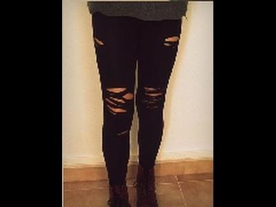 DIY leggins rotos ۞