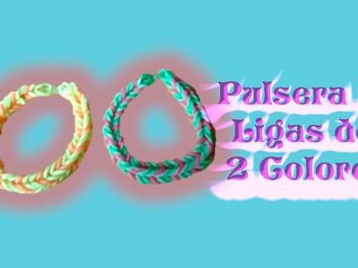 DIY | Pulsera de liga de 2 colores