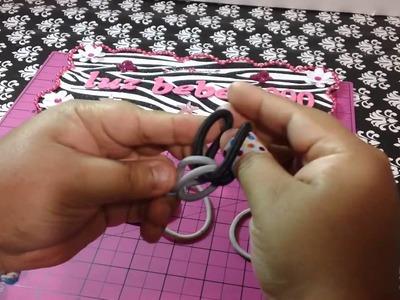 DIY pulseras hechas con ligas