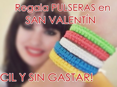 DIY: Regala PULSERAS en SAN VALENTIN!! ♥ I am Gladys. Bracelets for VALENTIN'S DAY