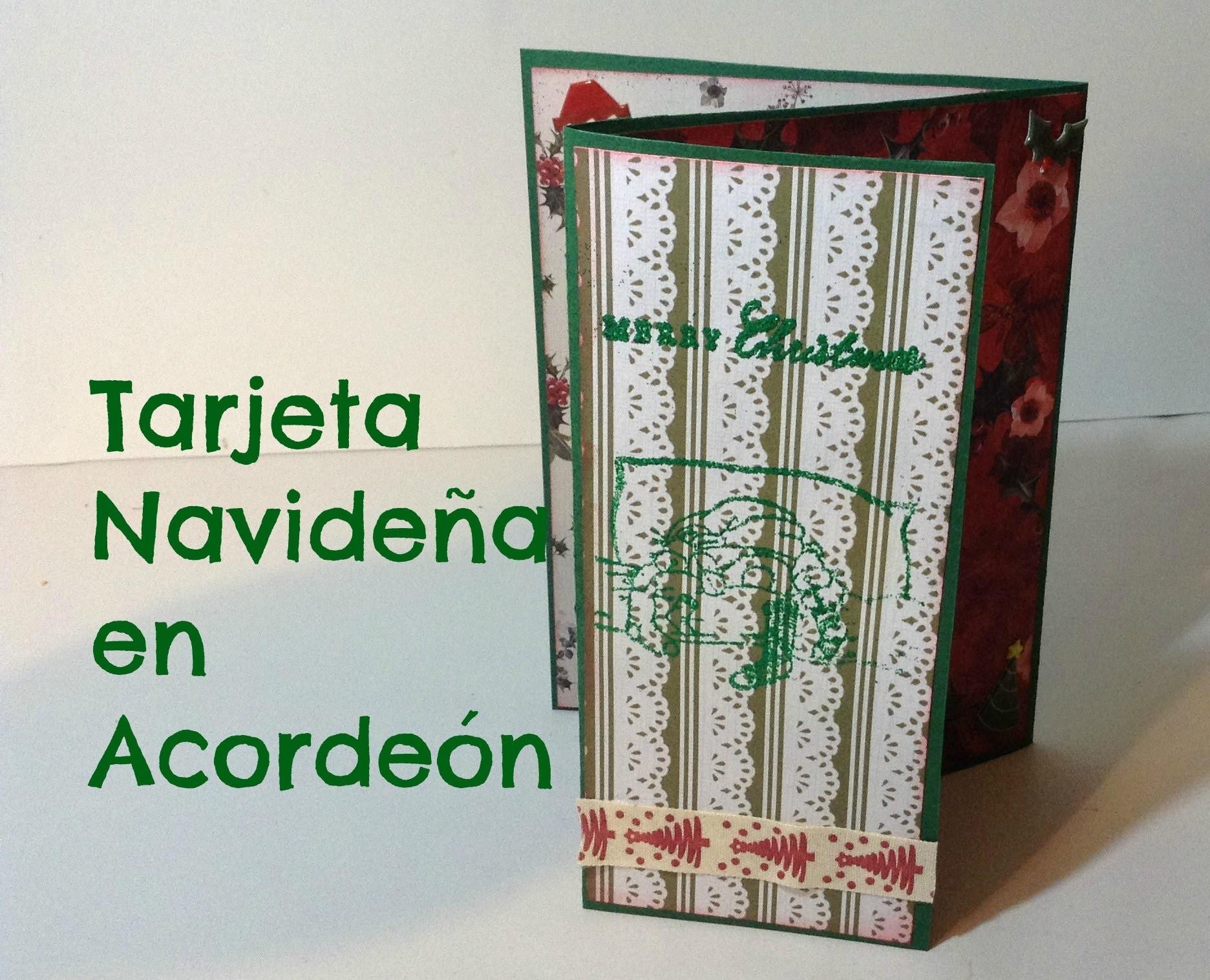 DIY Scrap: Tarjeta Navideña en forma de acordeón