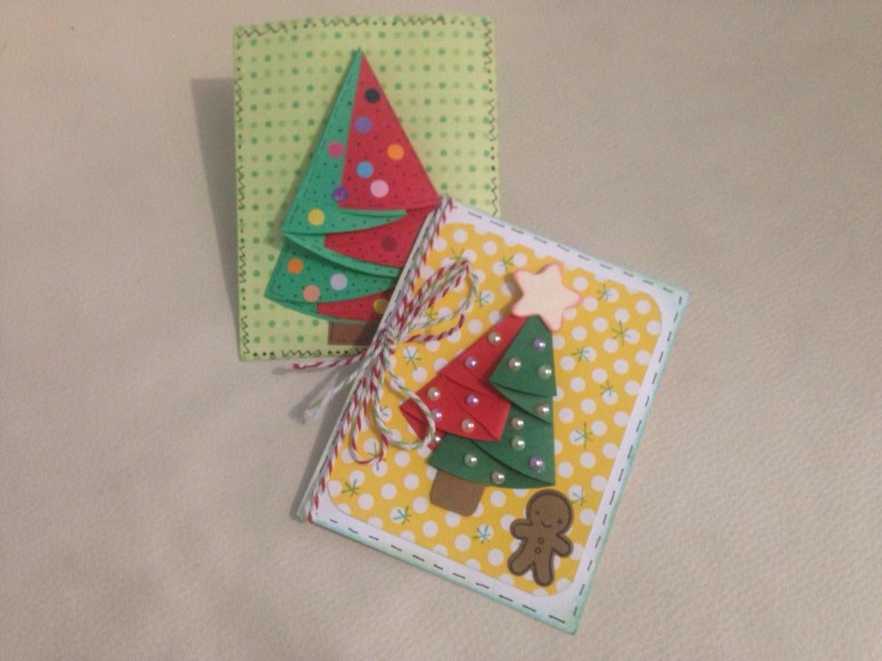 DIY Tarjeta árbol de navidad 3D