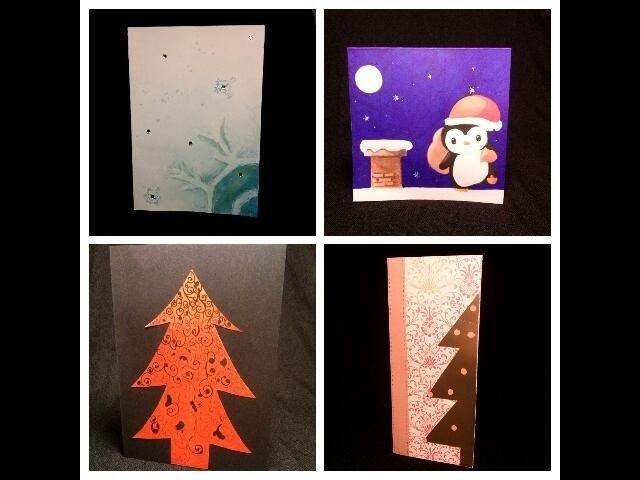 DIY Tarjetas Navideñas 4 ideas para hacer tarjetas tú mismo.
