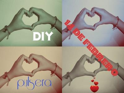 Pulsera de Hilo *14 de Febrero* DIY