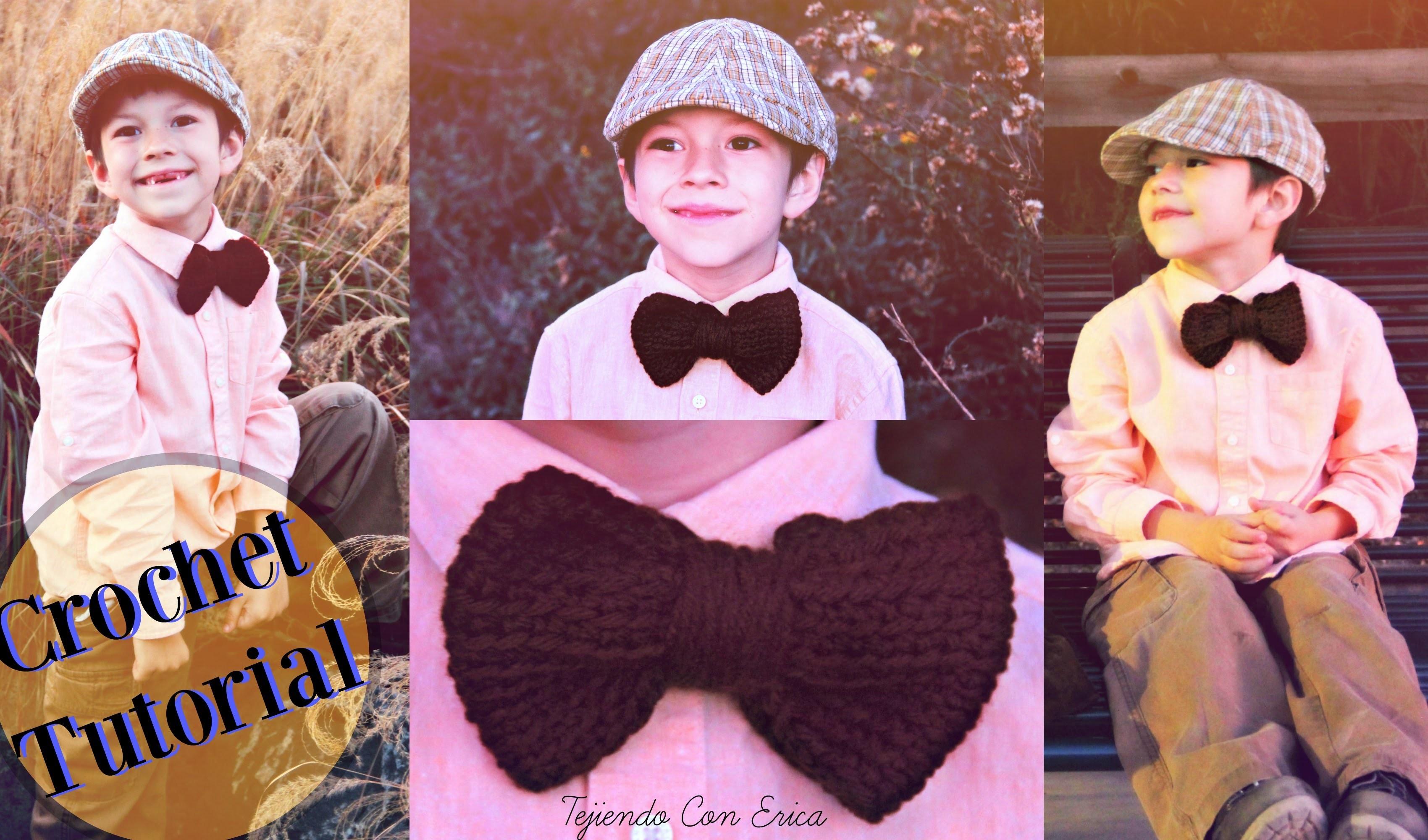 Corbata de Moño CROCHET TUTORIAL | Tejiendo Con Erica