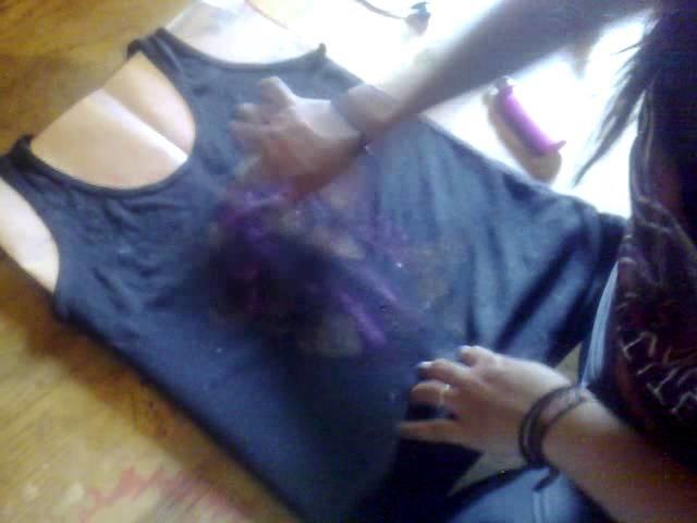 DIY- camisa de bajo la misma estrella :)