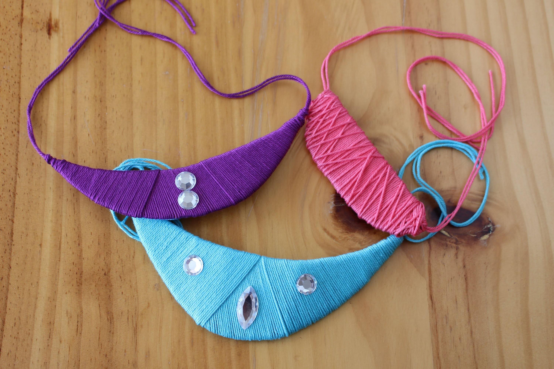 DIY: Cómo hacer un collar de hilo (fácil fácil fácil)
