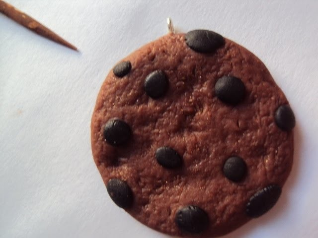 DIY: Galleta con Chispas de Chocolate en Porcelana Fría. Cold Porcelain Chocolate Chip Cookie