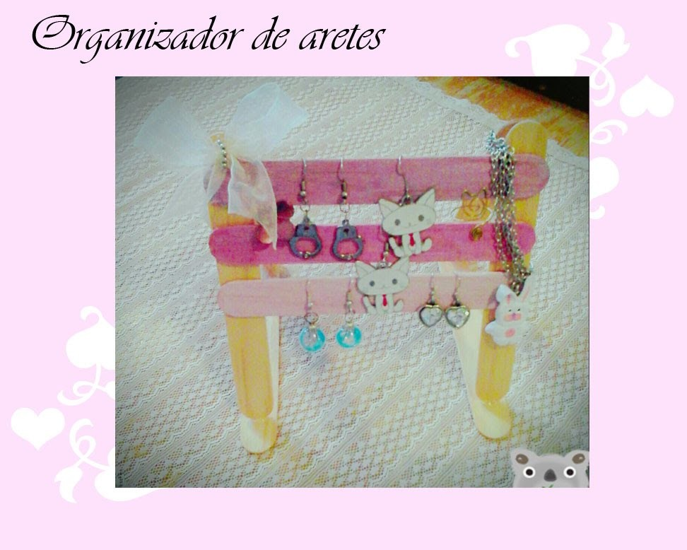 DIY: Organizador de aretes de Artistic Little World ♥