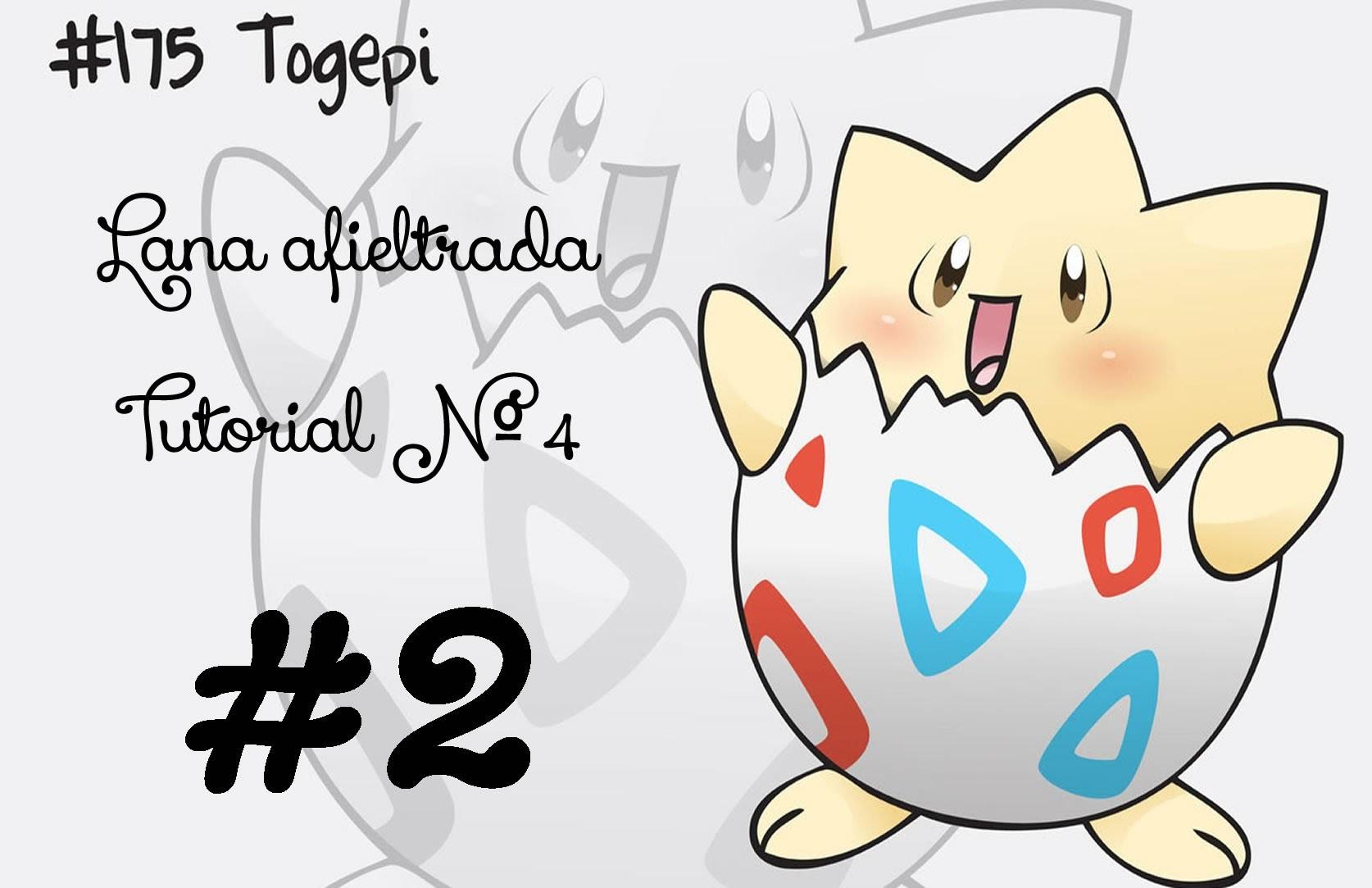 Pokemon Togepi 2.6 Tutorial Lana afieltrada - Needle Felted -